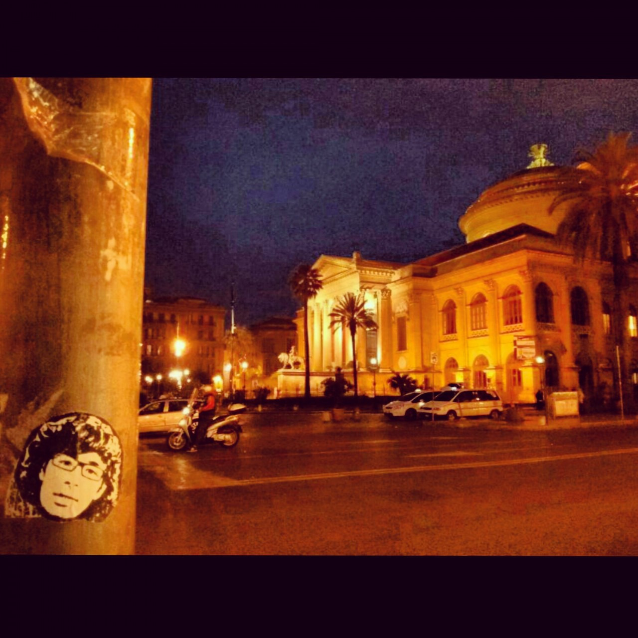 Peipegata sticker slap stickerart  bombardeando Palermo-Italia