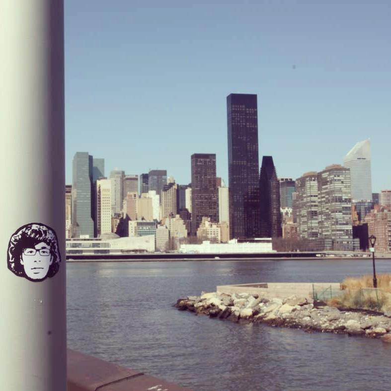 Peipegata sticker slap stickerart  bombardeando Nueva York-E.E.U.U