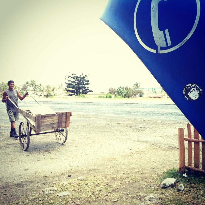 Peipegata sticker slap stickerart  bombardeando Varadero-Cuba