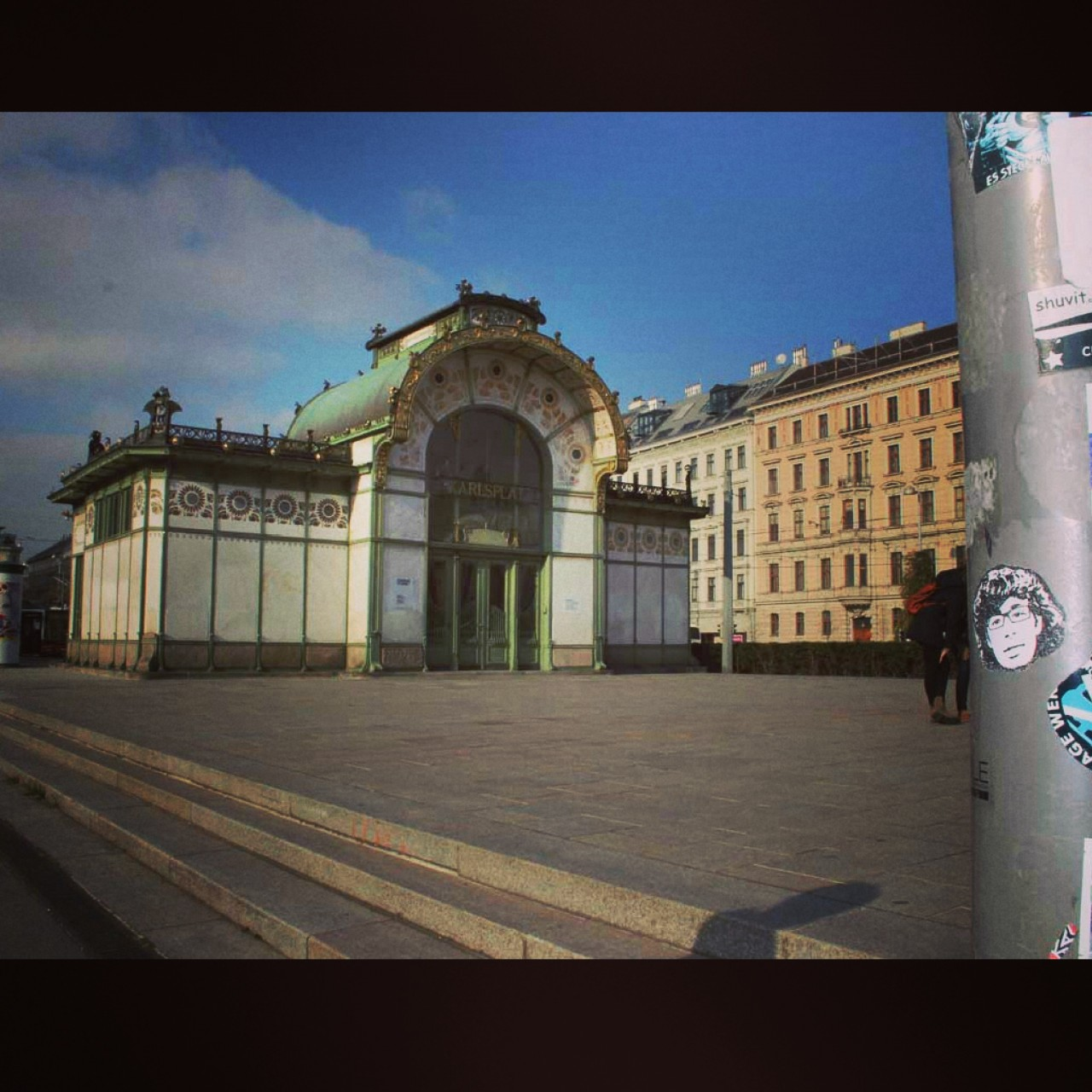 Peipegata sticker slap stickerart  bombardeando Viena-Austria