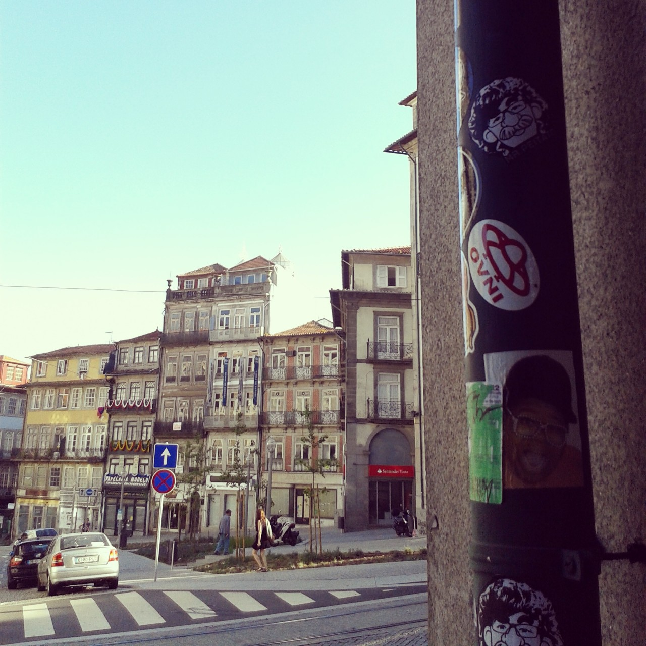 Peipegata sticker slap stickerart  bombardeando Porto-Portugal