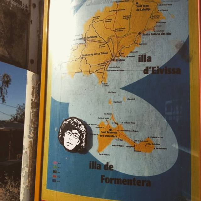 Peipegata sticker slap stickerart  bombardeando Ibiza-España