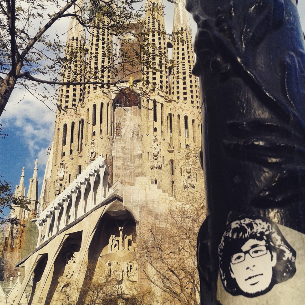 Peipegata sticker slap stickerart  bombardeando Barcelona-España
