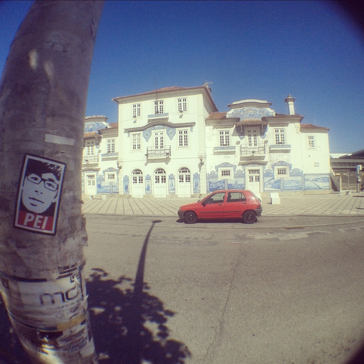 Peipegata sticker slap stickerart  bombardeando Aveiro-Portugal